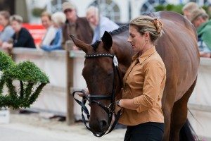 AUS-Wendy Schaeffer (KOYUNA SUN DANCER) 2012 GER-HSBC Luhmuhlen International Horse Trial - CCI****: 1ST Horse Inspection-Wednesday-PASS