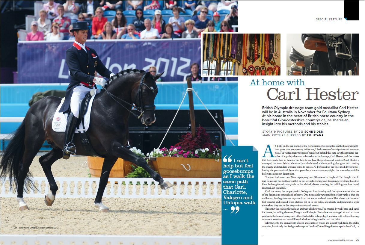 Blog at home with Carl Hester